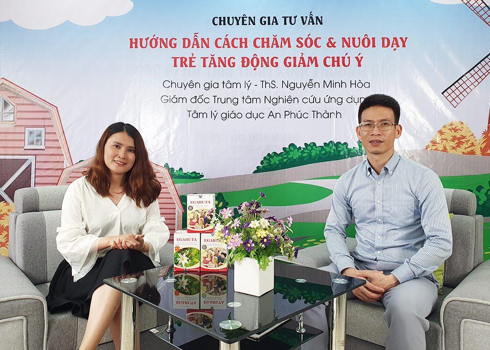 ThS. Nguyễn Minh Hòa trong chương trình tư vấn về tăng động giảm chú ý